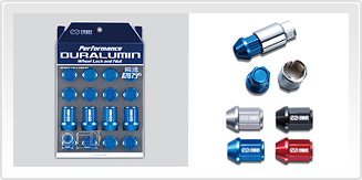 PERFORMANCE DURALUMIN WHEEL LOCK AND NUT